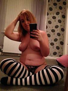 Awesome tits 45 wife isn't sure on the Socks!.jpg