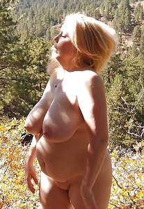 Awesome tits 27 Granny is natural in the Woods!.jpg